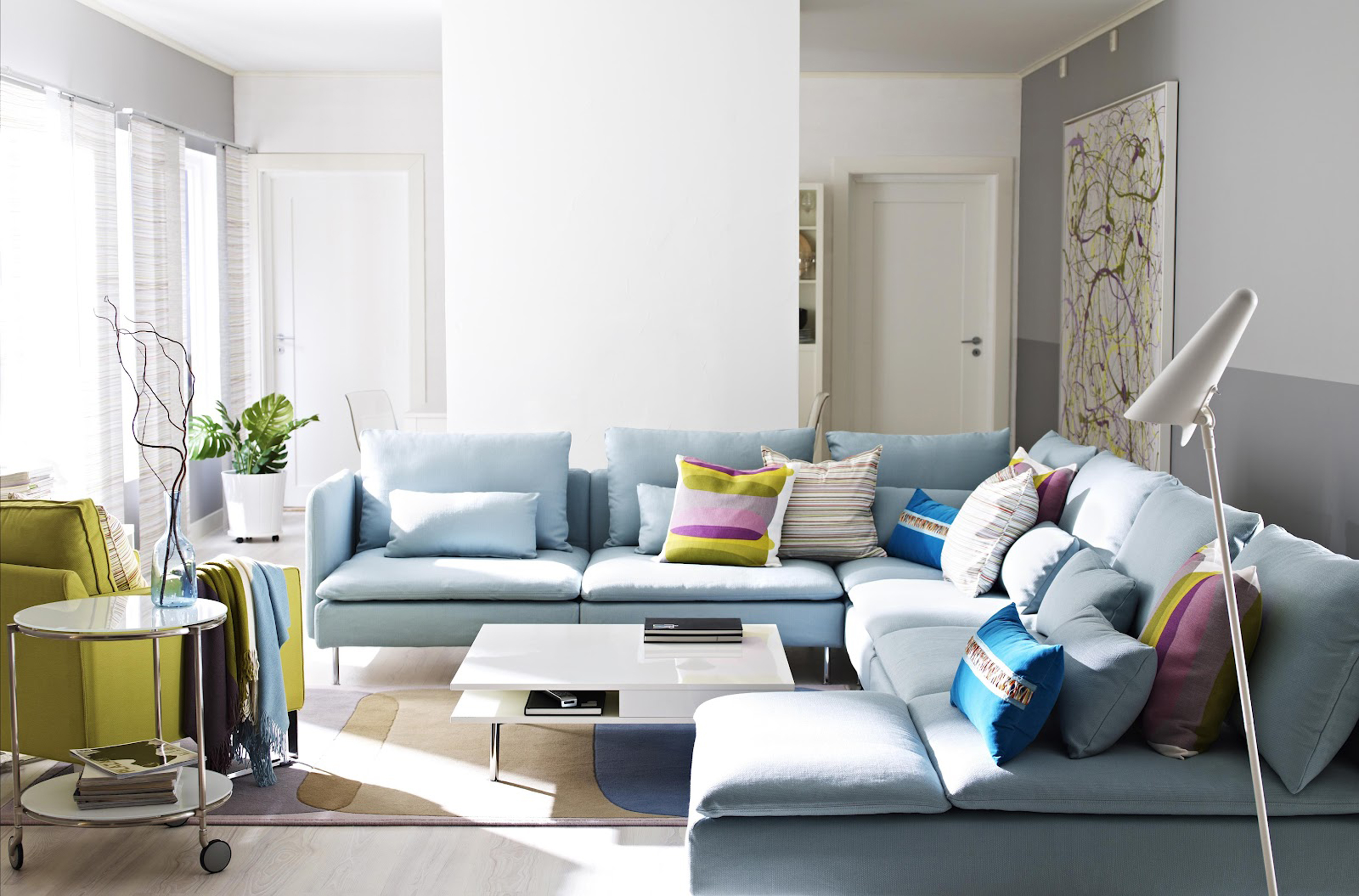 attractive-ikea-interior-design-idea-for-living-room-with-light-blue-sofa-appealing-throw-pillows-and_cushions-in-interior-design-lounge-room_dining-room_dining-room-table-and-chairs-paint-colors-glas
