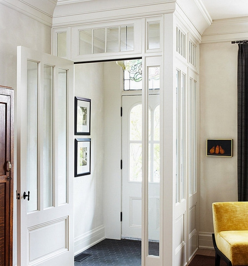 Beautiful Decorating Ideas Entryway Vestibule With Grey Hexagonal Tile Ideas - Office Furniture