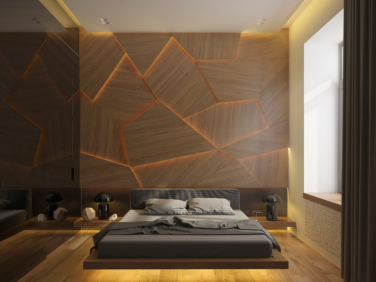 bedroom-accent-wall-with-unique-lighting