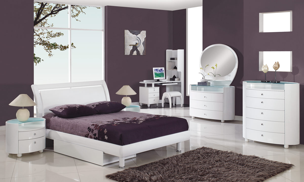 bedroom-fancy-image-of-girl-purple-bedroom-decoration-using-narrow-white-wood-girl-dresser-including-white-wood-king-ikea-circle-bed-frames-and-dark-purple-bedroom-wall-paint-ideas-charming-modern-bed