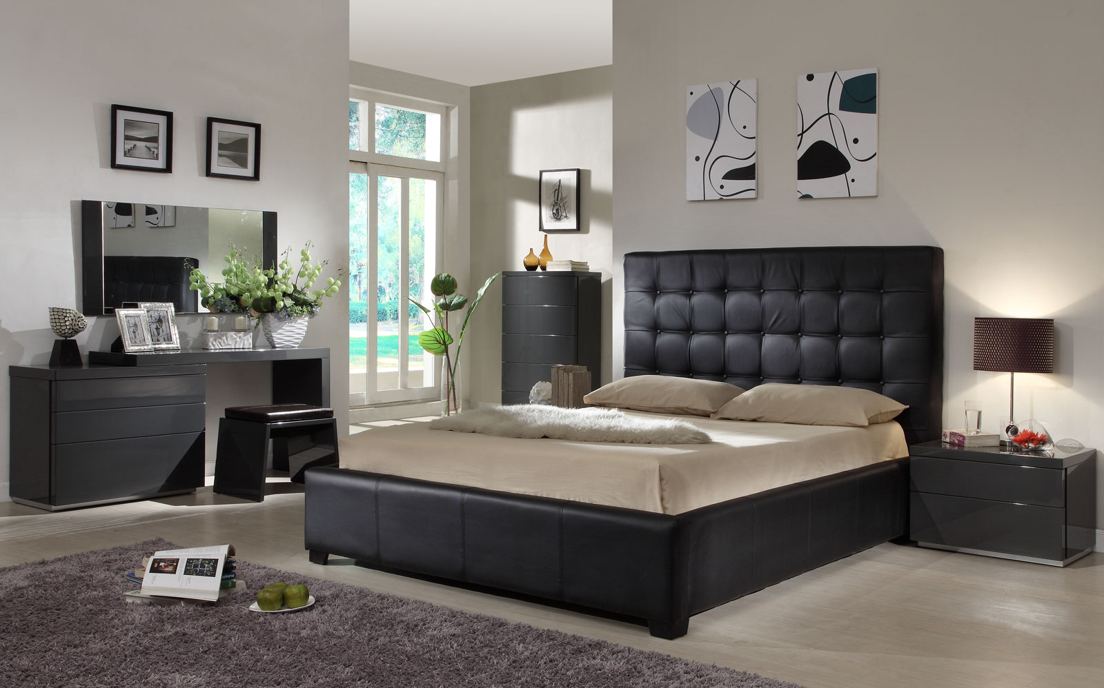 bedroom-ideas-black-leather-bed56