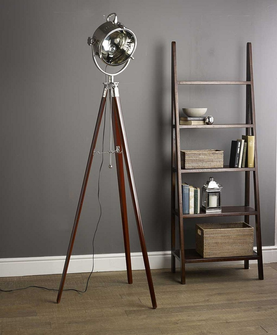 brilliant-tripod-lamps-brown-wooden-tripod-legs-stainless-steel-ball-shape-lamp-shade-tripod-lamps-decorating-design-ideas-in-tripod-lamps-936x1134_unique-floor-lamps