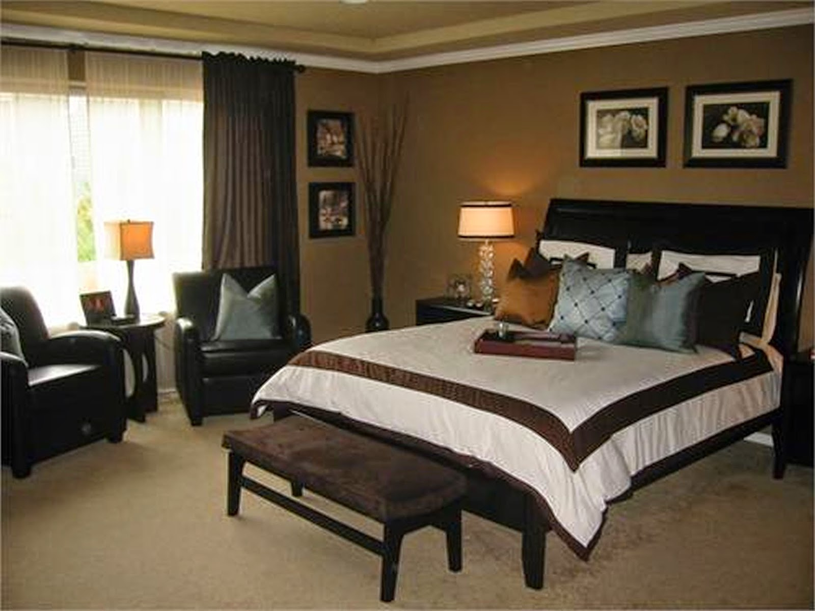 brown-curtains-design-better-choice-for-bedroom