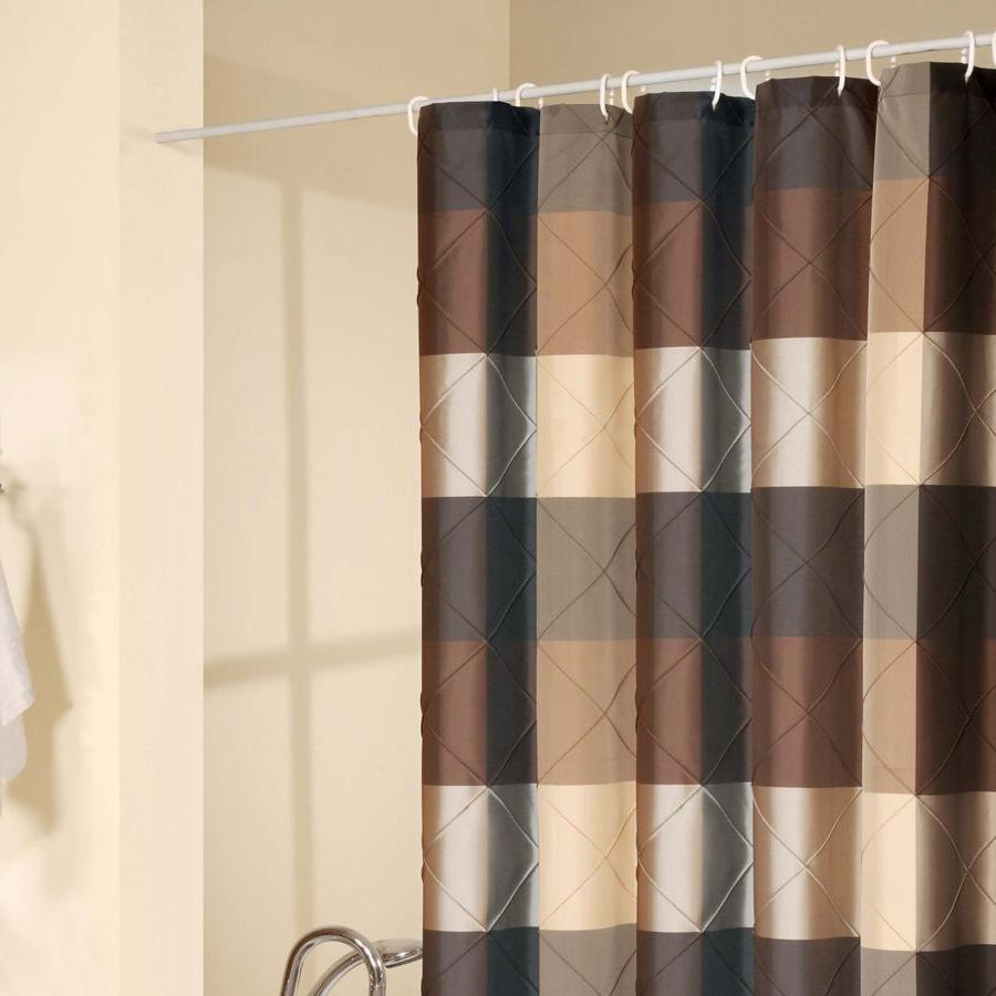 brown-striped-shower-curtains
