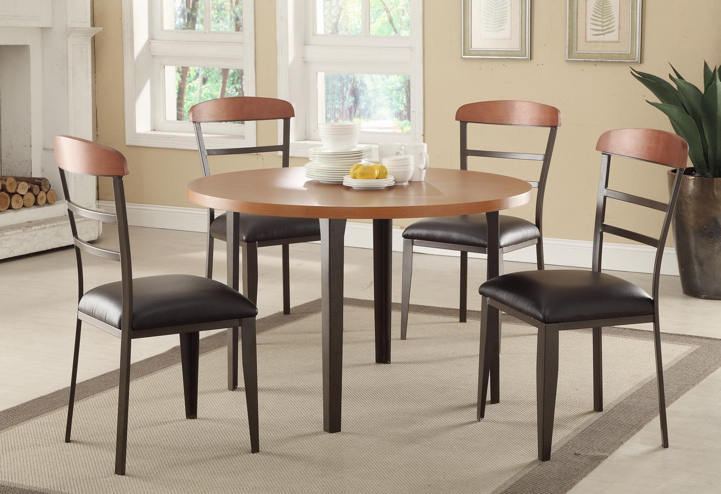 captivating-ikea-dining-room-sets-design-with-round-amber-table-and-ergonomic-high-back-chairs