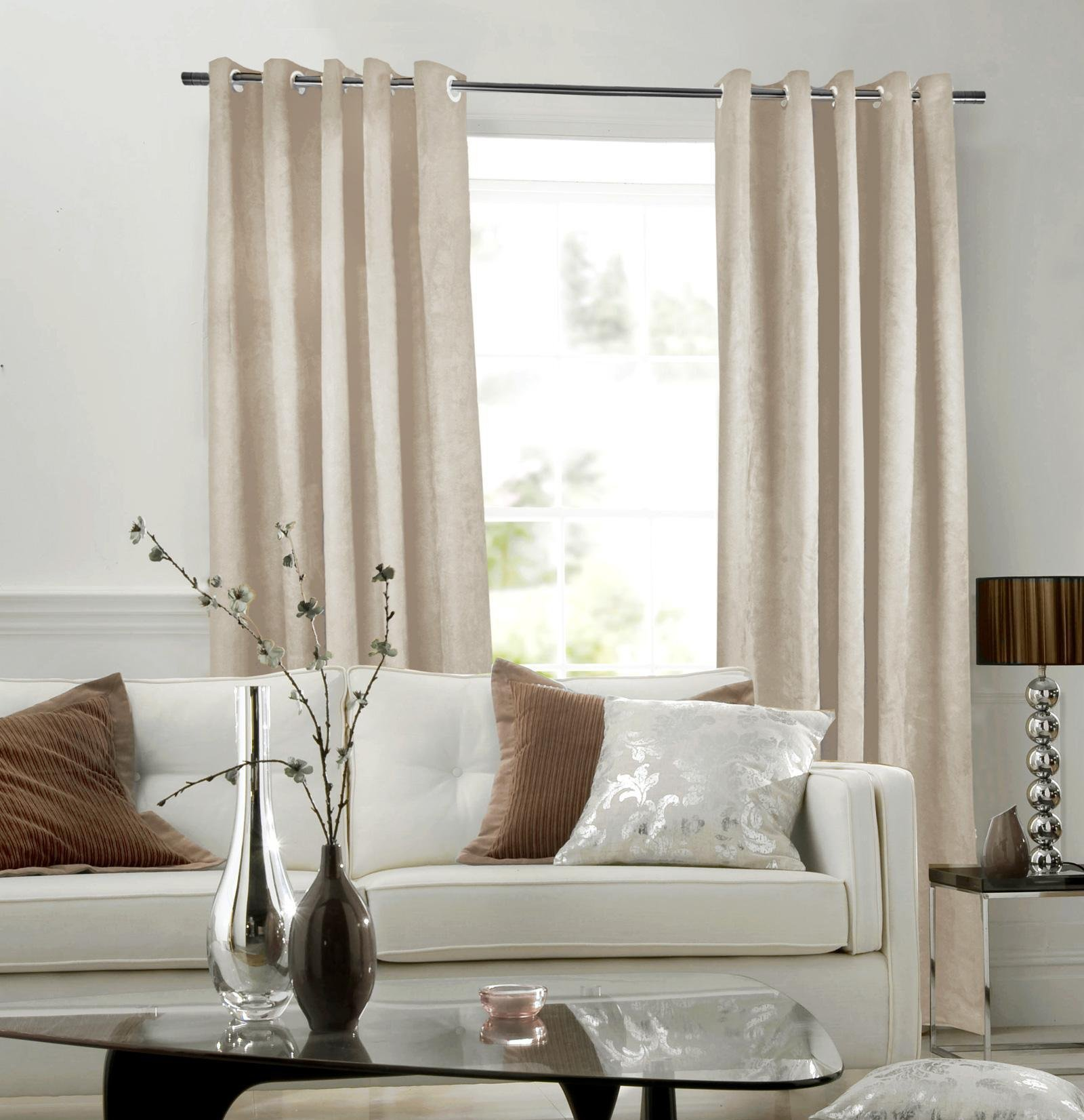 cute-drapes-for-the-living-room-with-soft-beige-bay-window-net-f-curtain-also-grommet-top-style-and-brown-pipe-hanger_brown-living-rooms-w-curtains_living-room_living-room-colors-live-chat-rooms-green