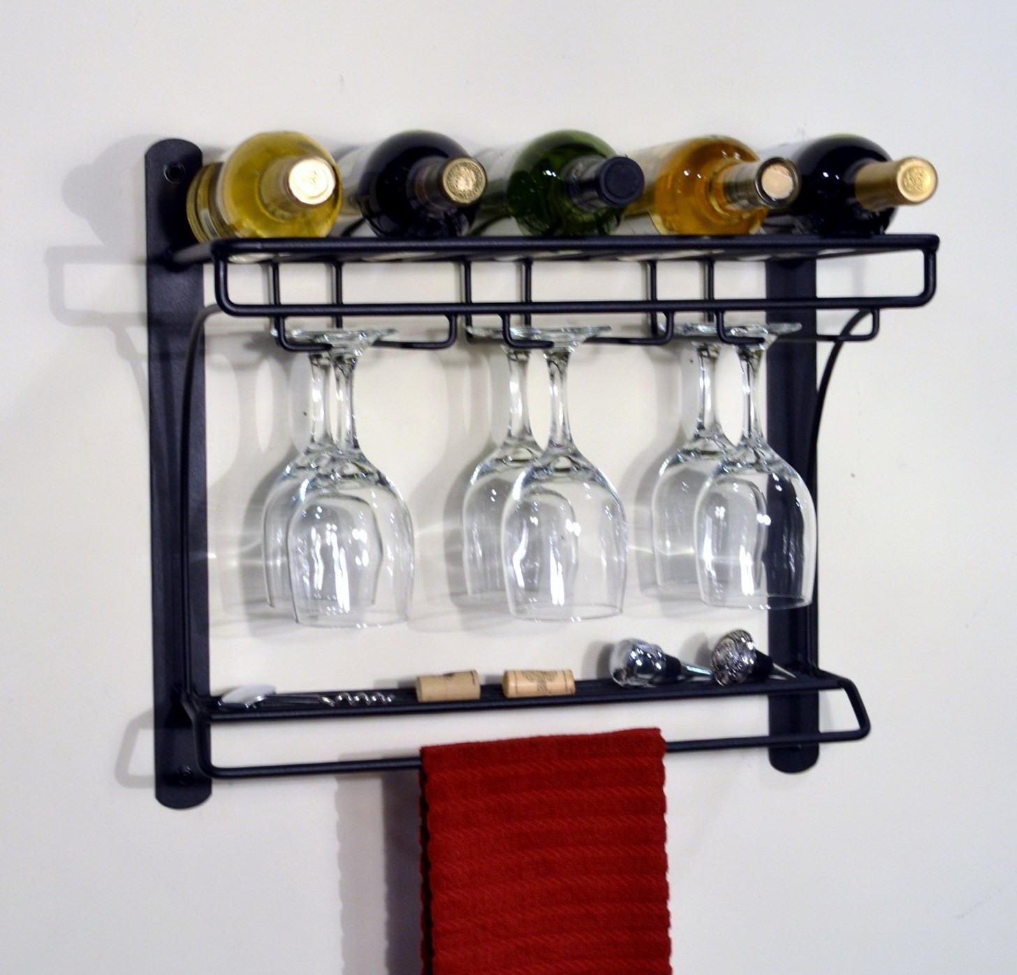 dining-room-interior-ideas-kitchen-ikea-wine-racks-and-simple-wall-mounted-black-polished-with-glass-hanger-also-vintage-view-wine-racks-big-ideas-for-small-wine-racks