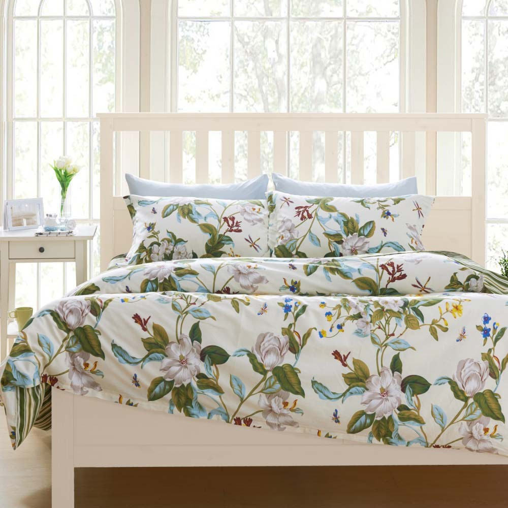 fancy-design-ideas-of-ikea-teenage-bedroom-with-white-wooden-bed-frames-and-floral-pattern-covered-bedding-sheets-also-pillows-and-white-wooden-bedside-table-with-drawer-with-ikea-room-design-also-st
