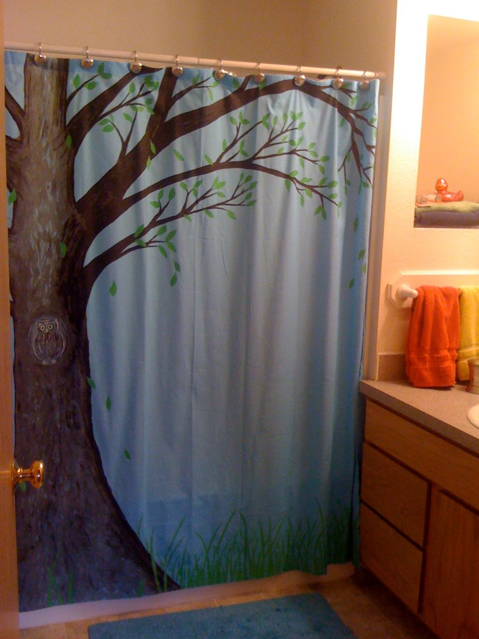 fascinating-polyester-shower-curtain-design-large-trees-store-the-owl-and-leaf-fall-have-lush-green-grass-with-a-light-blue-background-to-this-picture-in-bold-are-not-easily-fade-or-sticky-938x1251