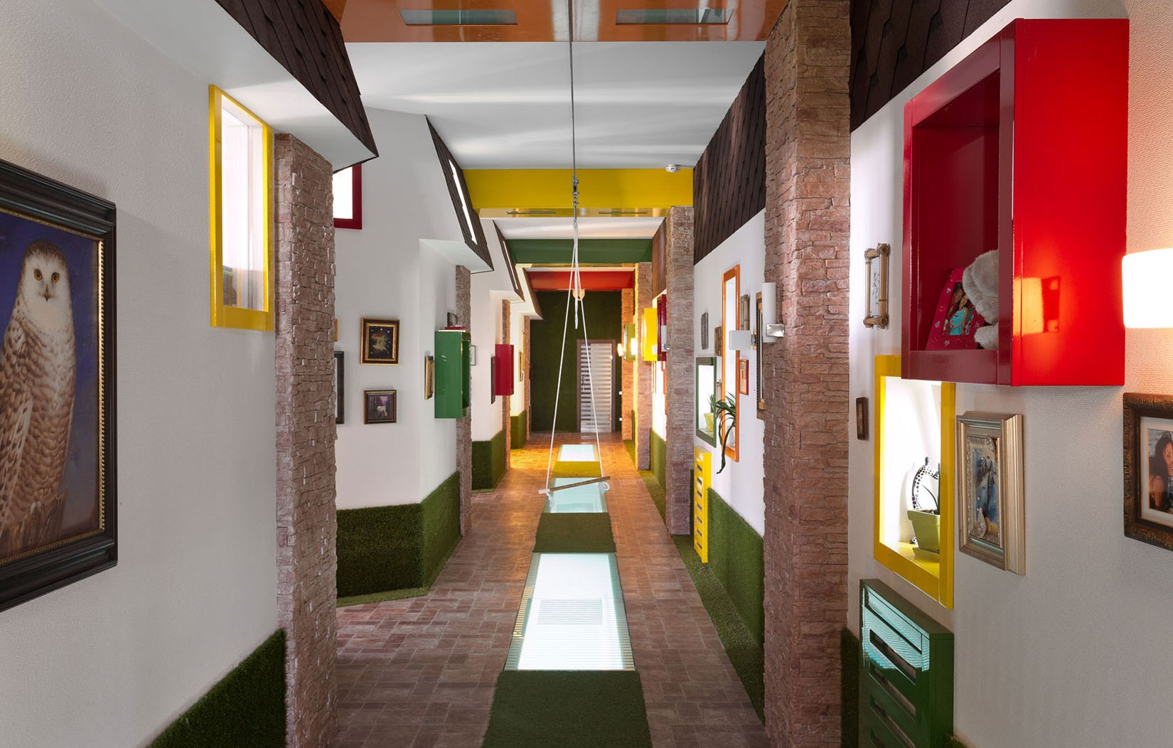 fun-hallway-in-primary-colors