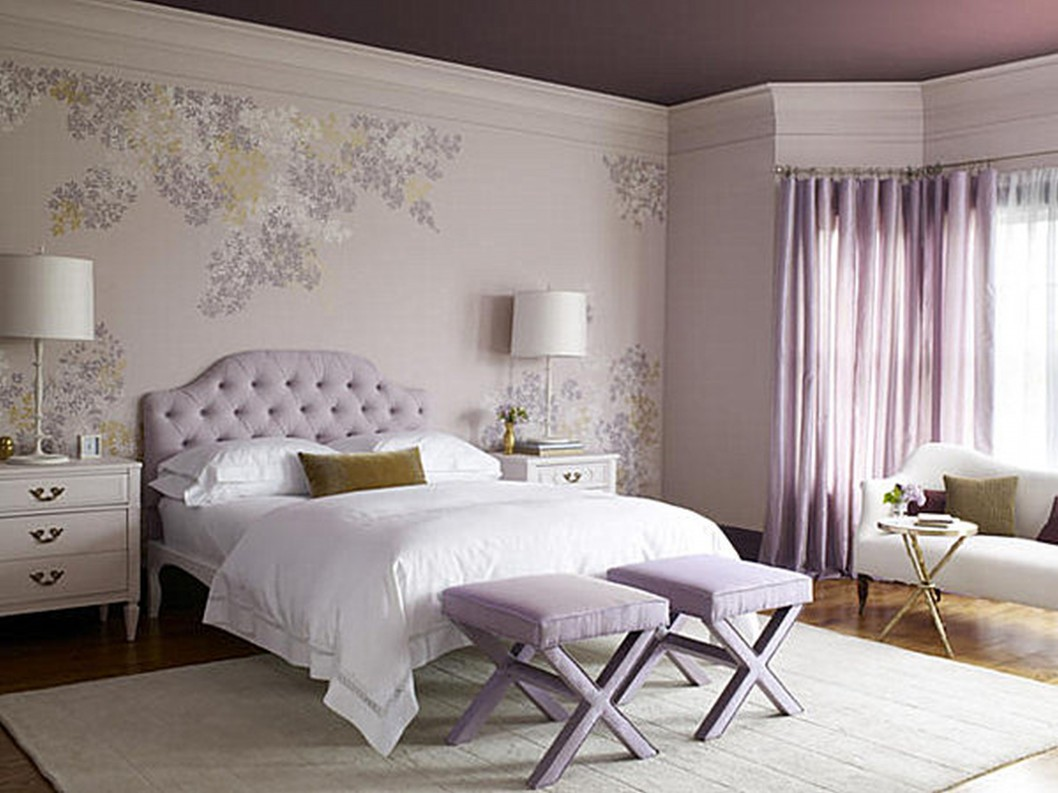 furniture-light-purple-wall-of-windows-curtain-bench-headboard-on-bedstead-white-bedlinen-pillows-soft-carpet-ikea-master-bedroom-listed-decorating-ideas-for-ikea-master-bedroom-furniture-1058x793