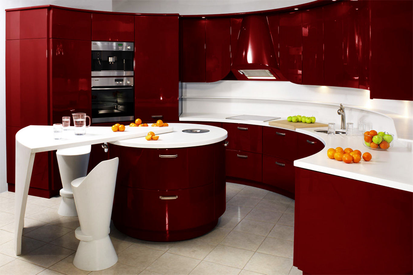 black red kitchen ideas