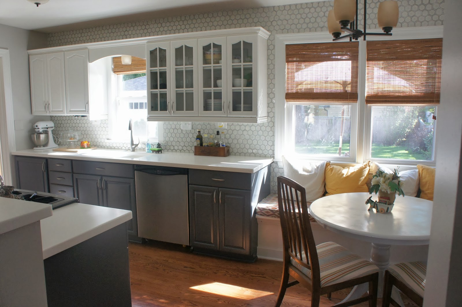 gray-and-white-kitchen-makeover-with-painted-cabinets-featured-on-remodelaholic