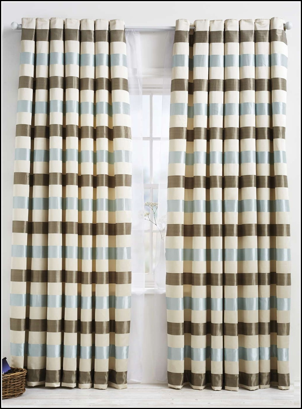 green-and-brown-curtains-uk