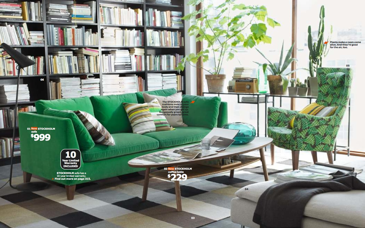 ikea-green-living-room
