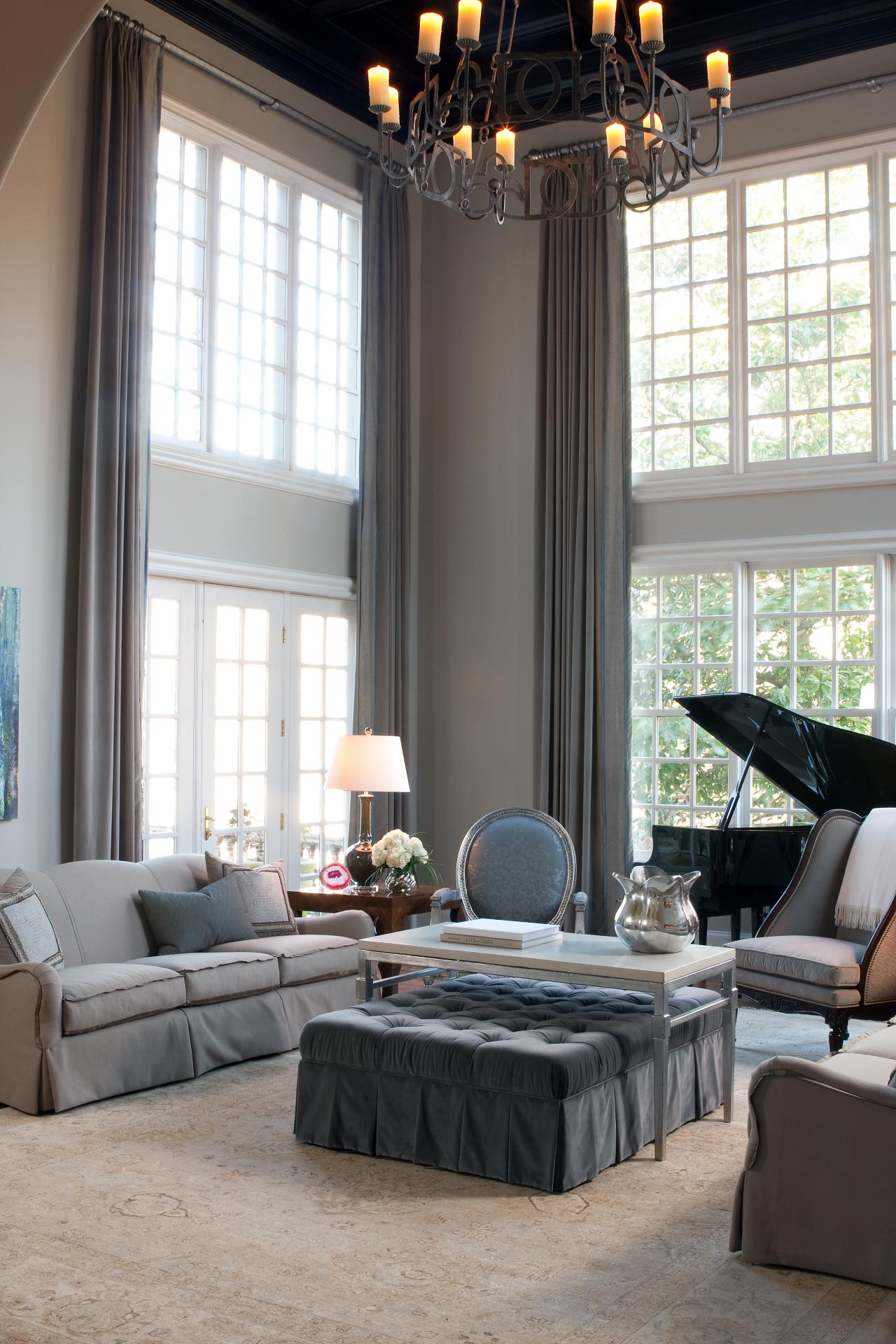 incredible-living-room-home-interior-deco-showcasing-pleasurable-neutral-sofa-set-embellish-rustic-chandelier-also-harmonious-window-treatment-with-long-curtains-design-ideas-window-treatment-with-lon
