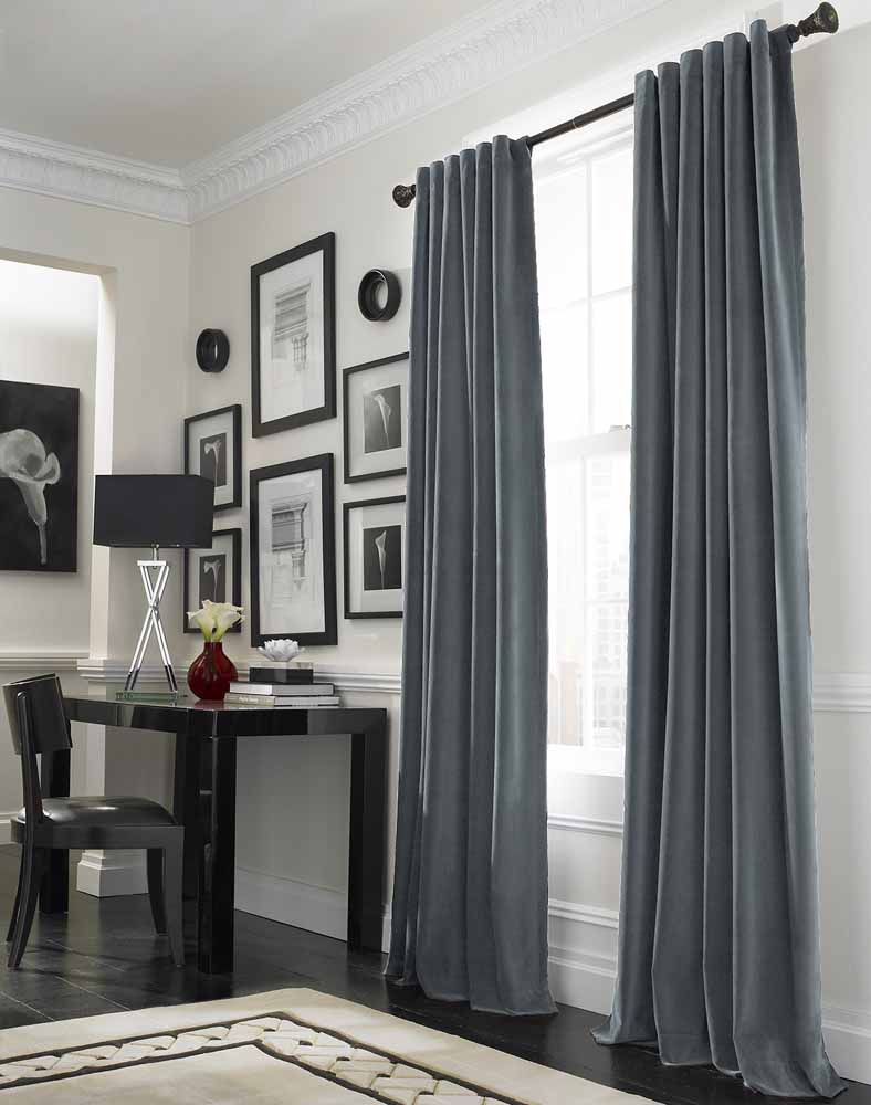 Gray in the interior curtains