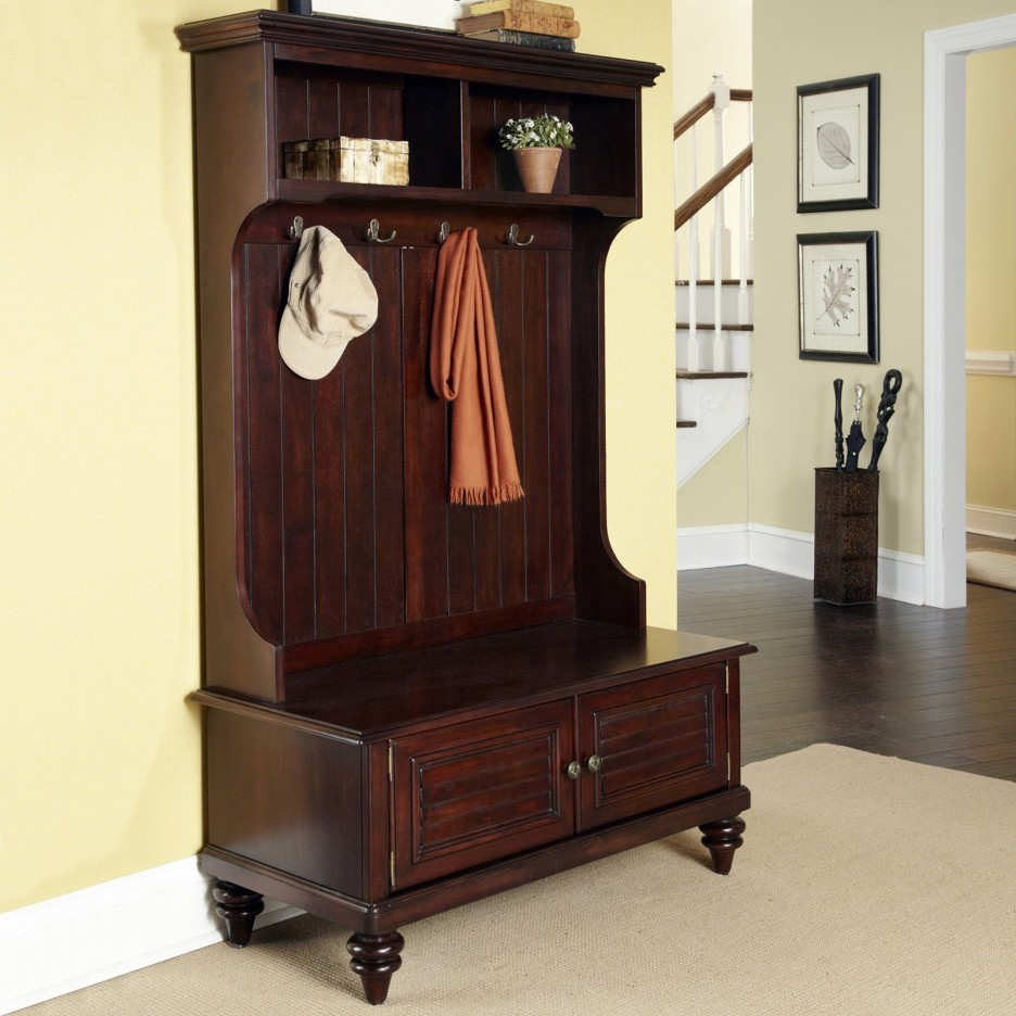 interior-high-dark-brown-wooden-bench-with-double-doors-storage-connected-with-two-storage-also-four-hooks-storage-bench-with-coat-rack-936x936