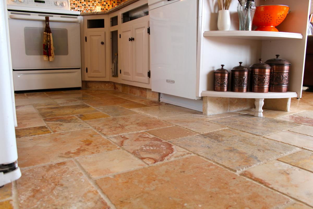 Kitchen floor tiling ideas