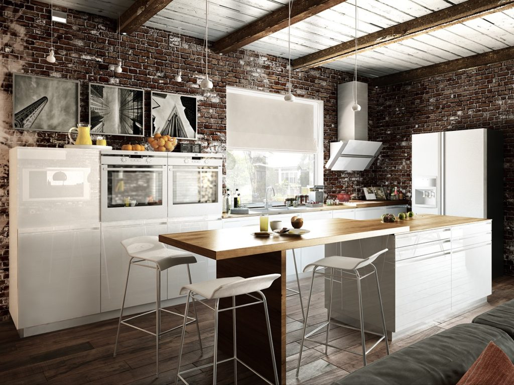 Great small kitchens steel design