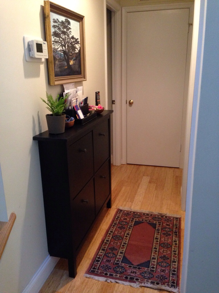 other-cabinet-matchless-narrow-hallway-cabinet-with-black-cabinet-paint-color-ideas-also-small-indoor-planters-pots