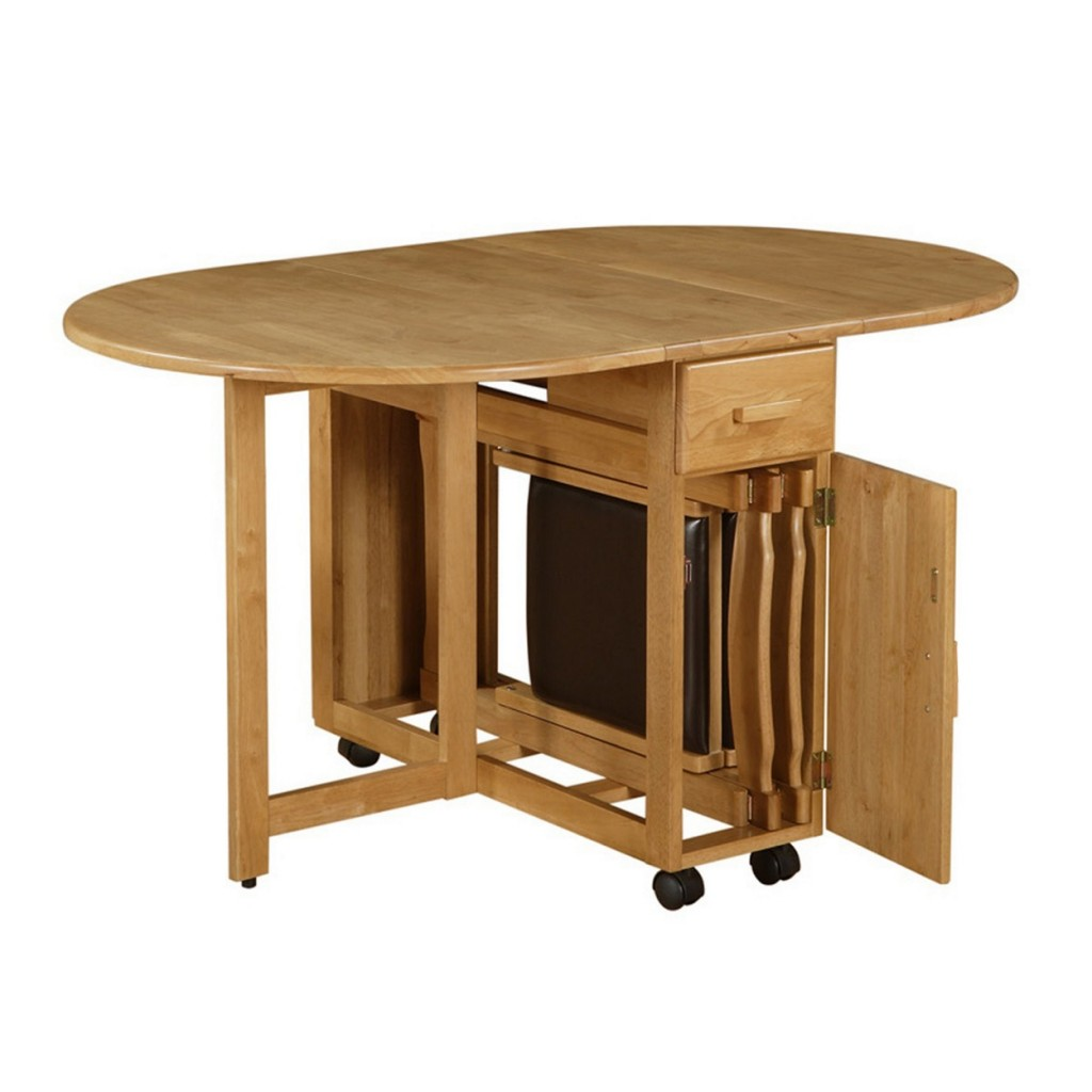 ovel-half-bull-nose-top-fold-dining-table-made-of-maple-wood-in-beige-finished-having-single-drawer-and-4-black-wheels-with-folding-tables-also-collapsible-dining-table-ikea