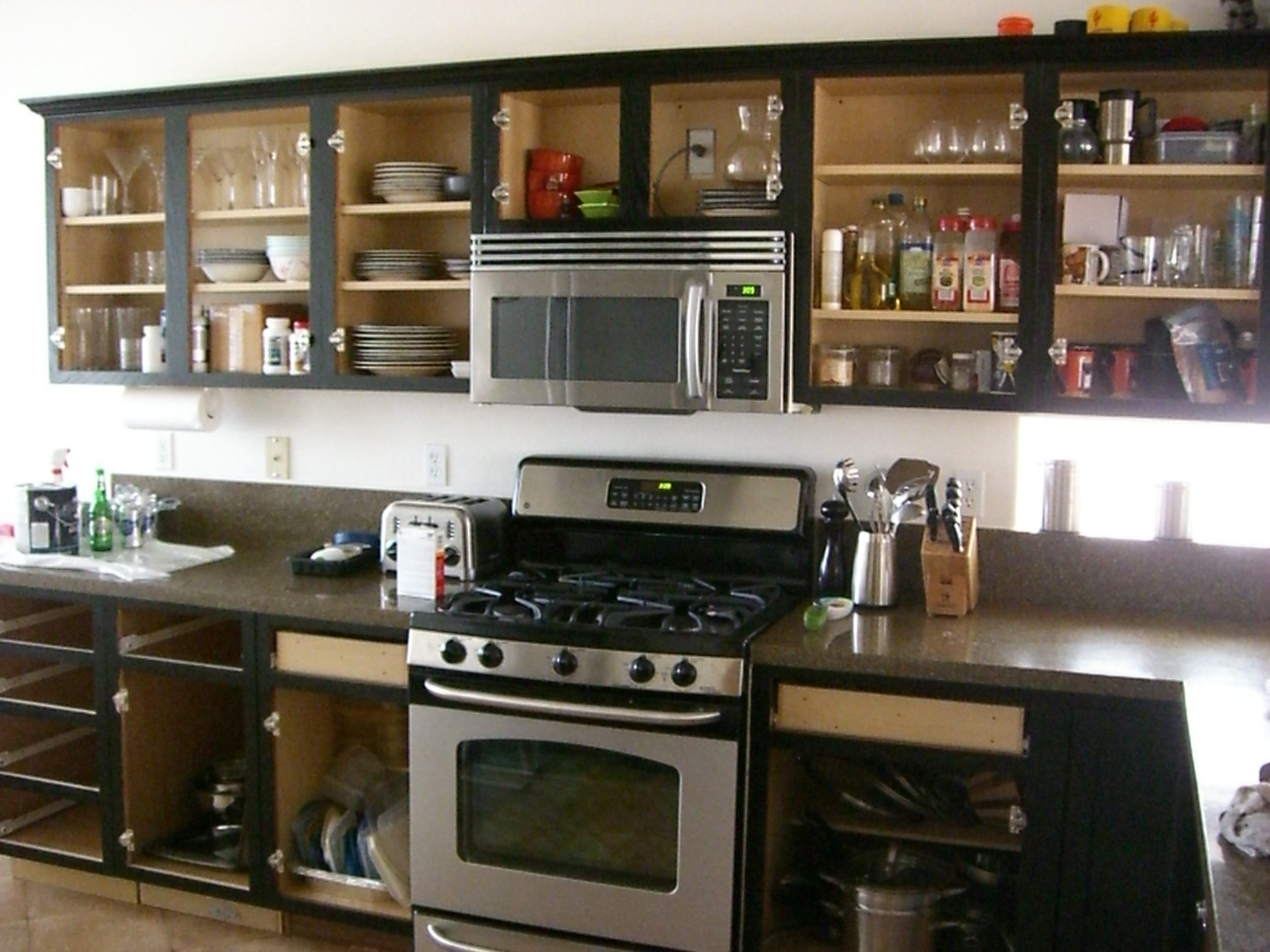 painted-black-kitchen-cabinets