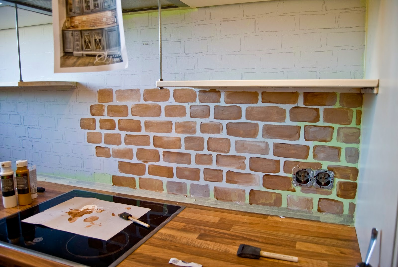 painted-faux-brick-backsplash-pudel-design-featured-on-remodelaholic