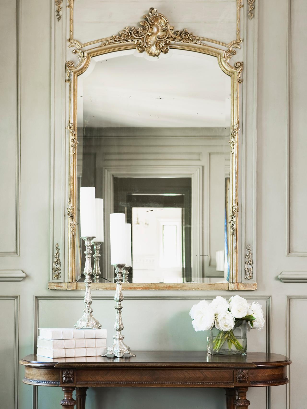 photos-hgtv-antique-table-and-gilt-mirror-in-neutral-hallway_decorative-hallway-mirrors_home-decor_home-decorators-coupon-code-decor-stores-yosemite-bohemian-western-christian-target-sincere-office-de