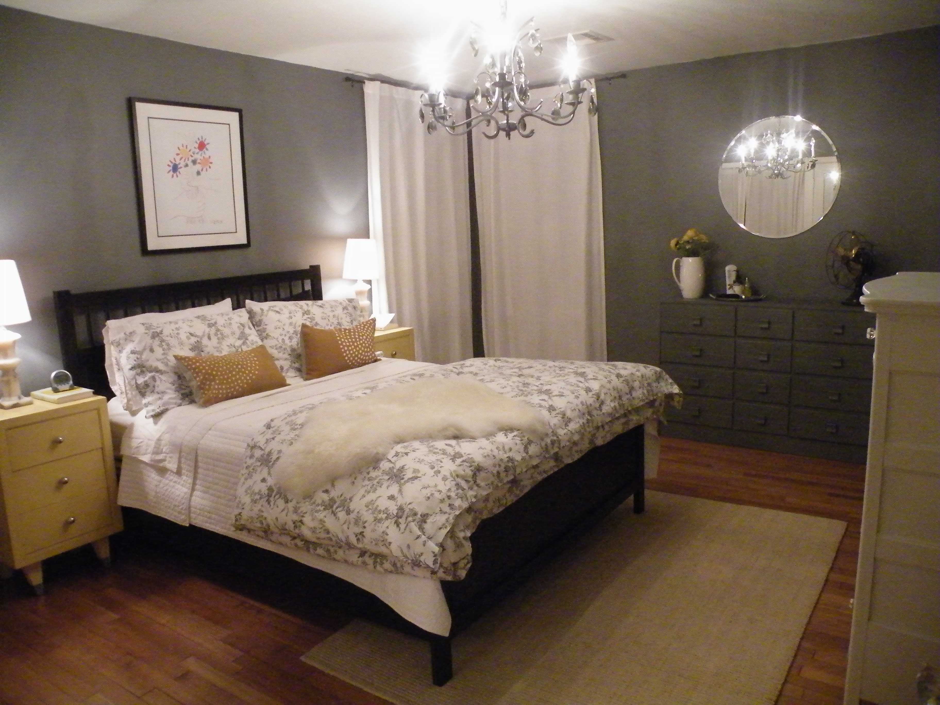 pillows-on-the-bed-at-west-gray-master-bedroom-chandelier