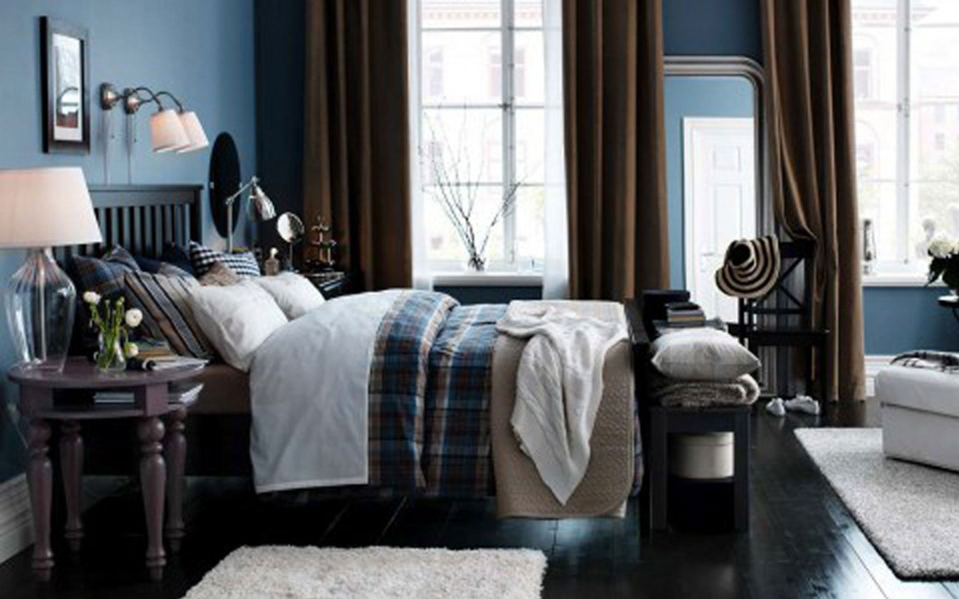 popular-design-ikea-bedrom-with-contemporary-brown-sheer-curtain-and-wooden-black-bed-design-for-ikea-bedroom-curtains-ikea-bedrom-with-new-modern-furniture-design-for-amazing-ikea-bedroom-design