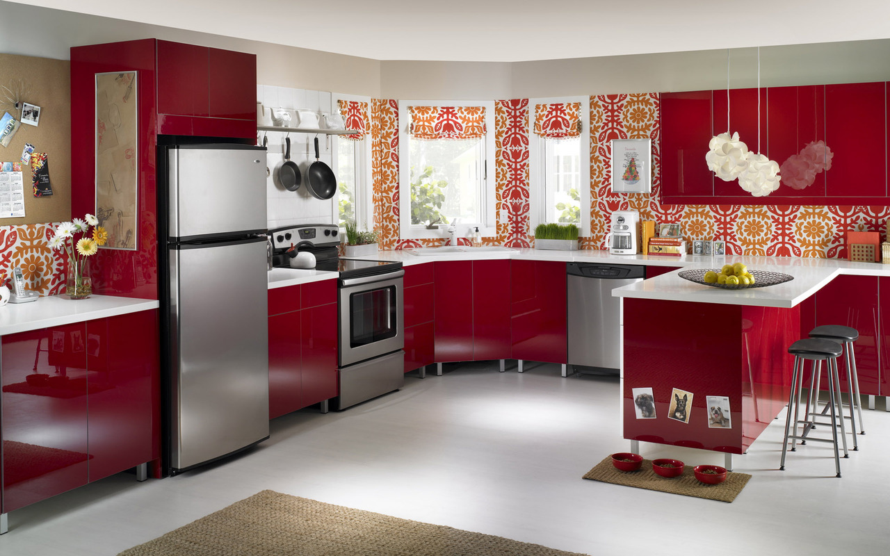 red-kitchen-furniture-17317