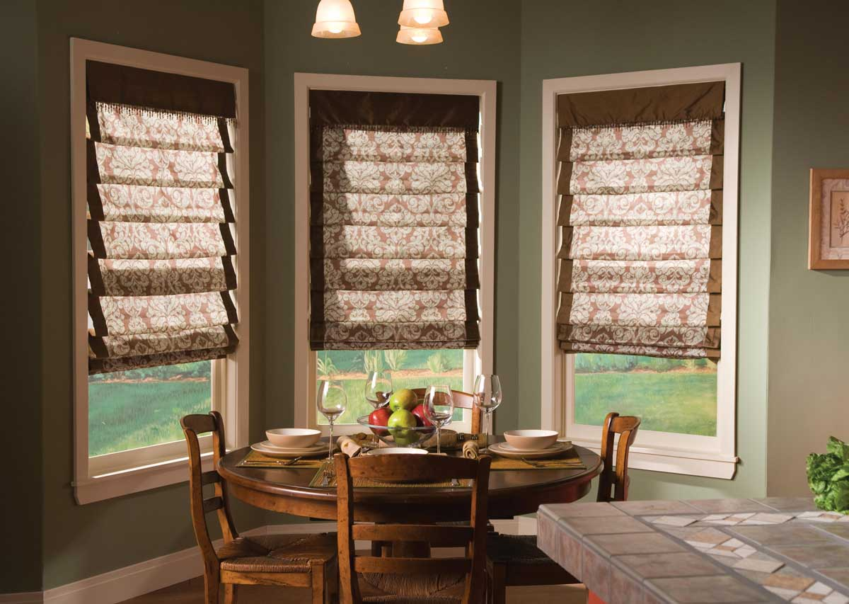 Curtains for big kitchen windows