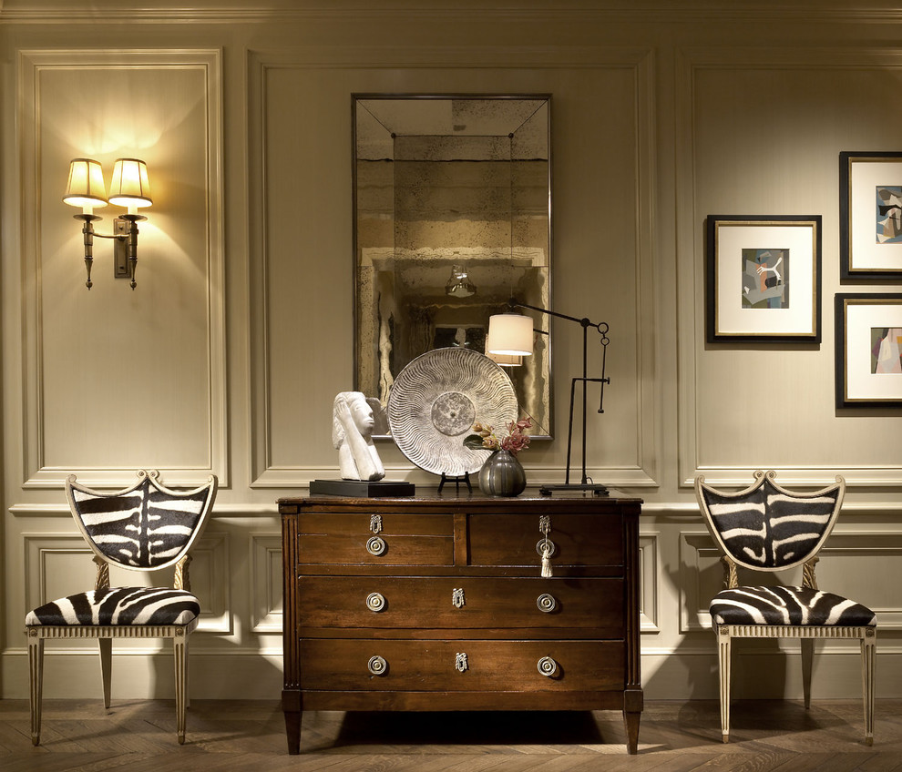 small-chest-of-drawers-hall-traditional-with-animal-print-antiqued-mirror