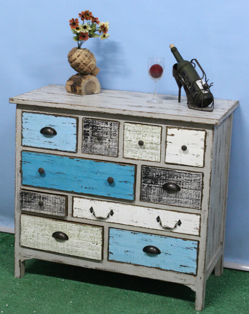 white-and-blue-color-diy-accent-chests-with-drawers-made-from-reclaimed-wood-ideas