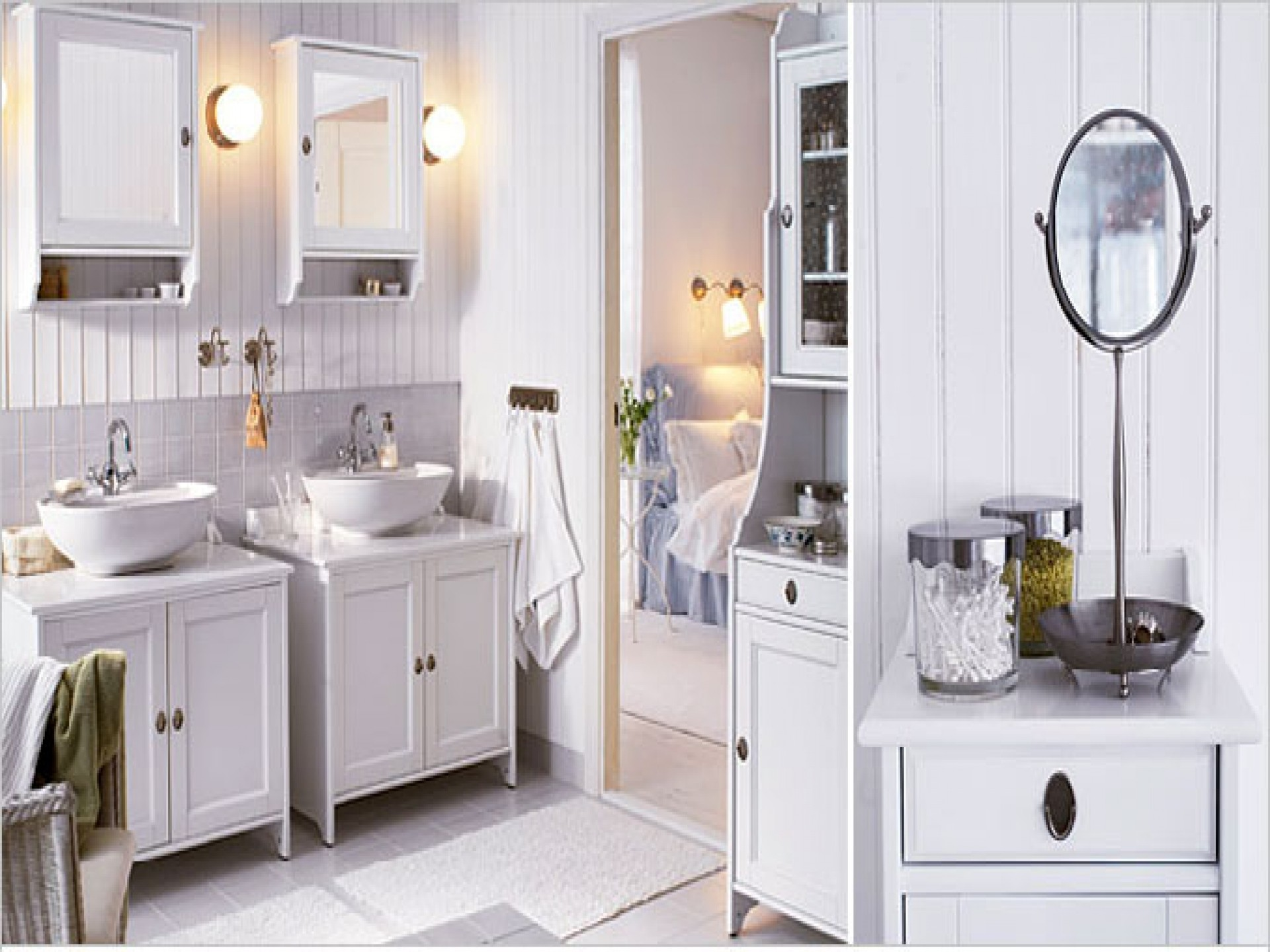 wonderful-white-wood-glass-cool-design-ikea-bathroom-ideas-wall-mirror-cabinet-sink-cabinet-display-cabinet-wall-lamp-interior-at-bathroom-as-well-as-bathroom-mirrors-plus-ikea-bathrooms-ideas