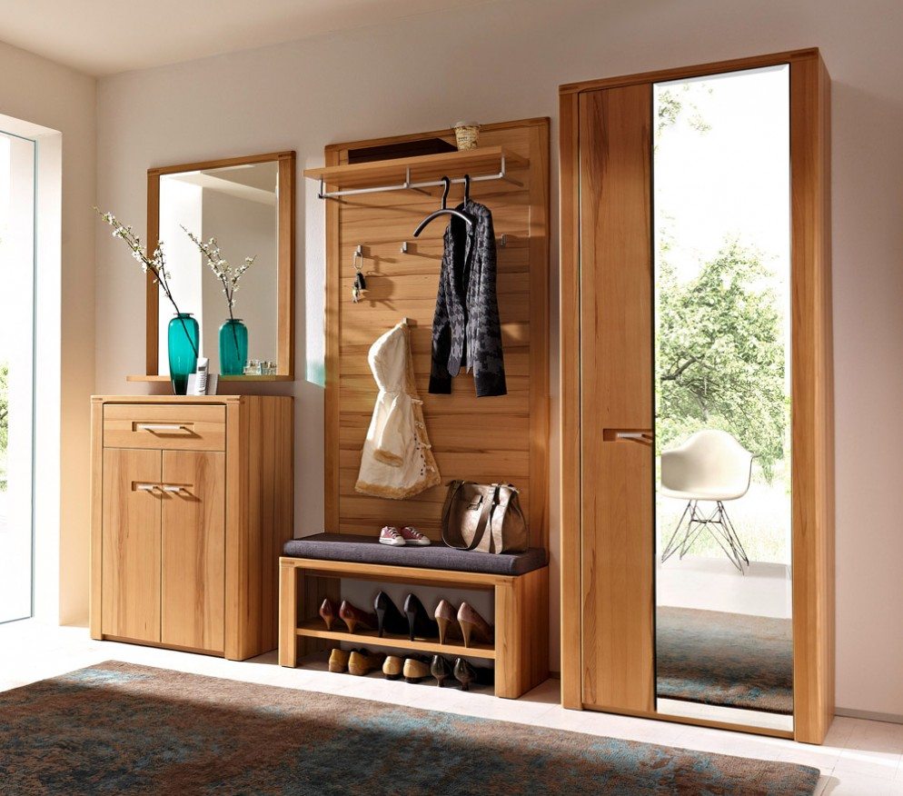 wooden-hallway-storage-furniture-entryway-with-cherry-shoe-storage-entryway-coat-rack-and-bench-cupboard-with-mirror-door-cabinet-mirror-with-wooden-frame