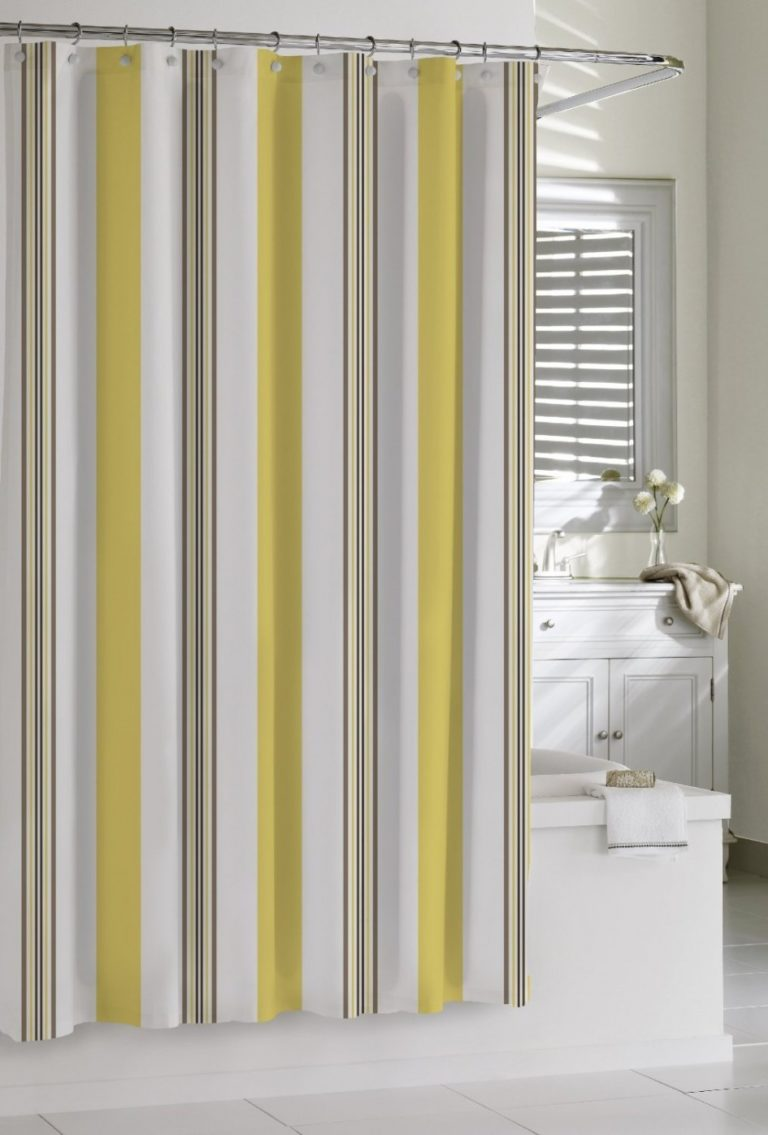 Cabana stripe shower curtain 2