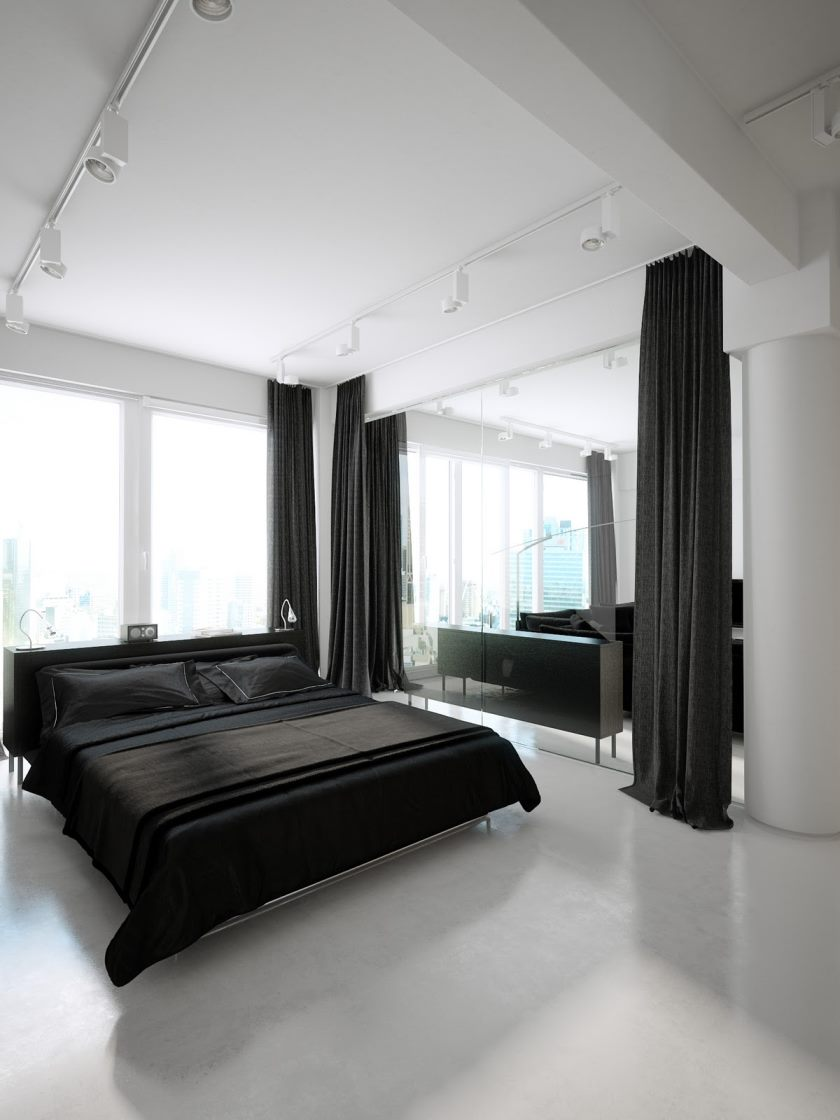 monochrome-black-white-bedroom