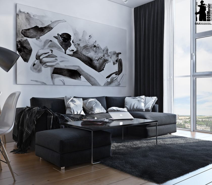artistic-black-and-white-interior-design