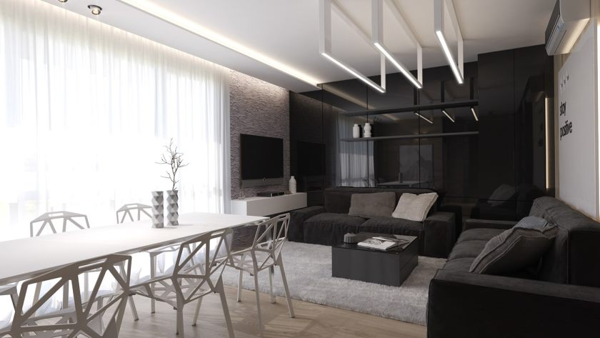 black-and-white-interior