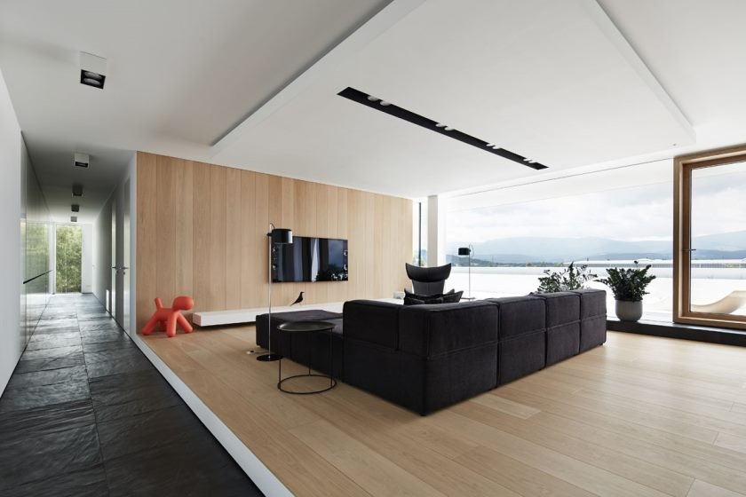 black-and-wood-living-room