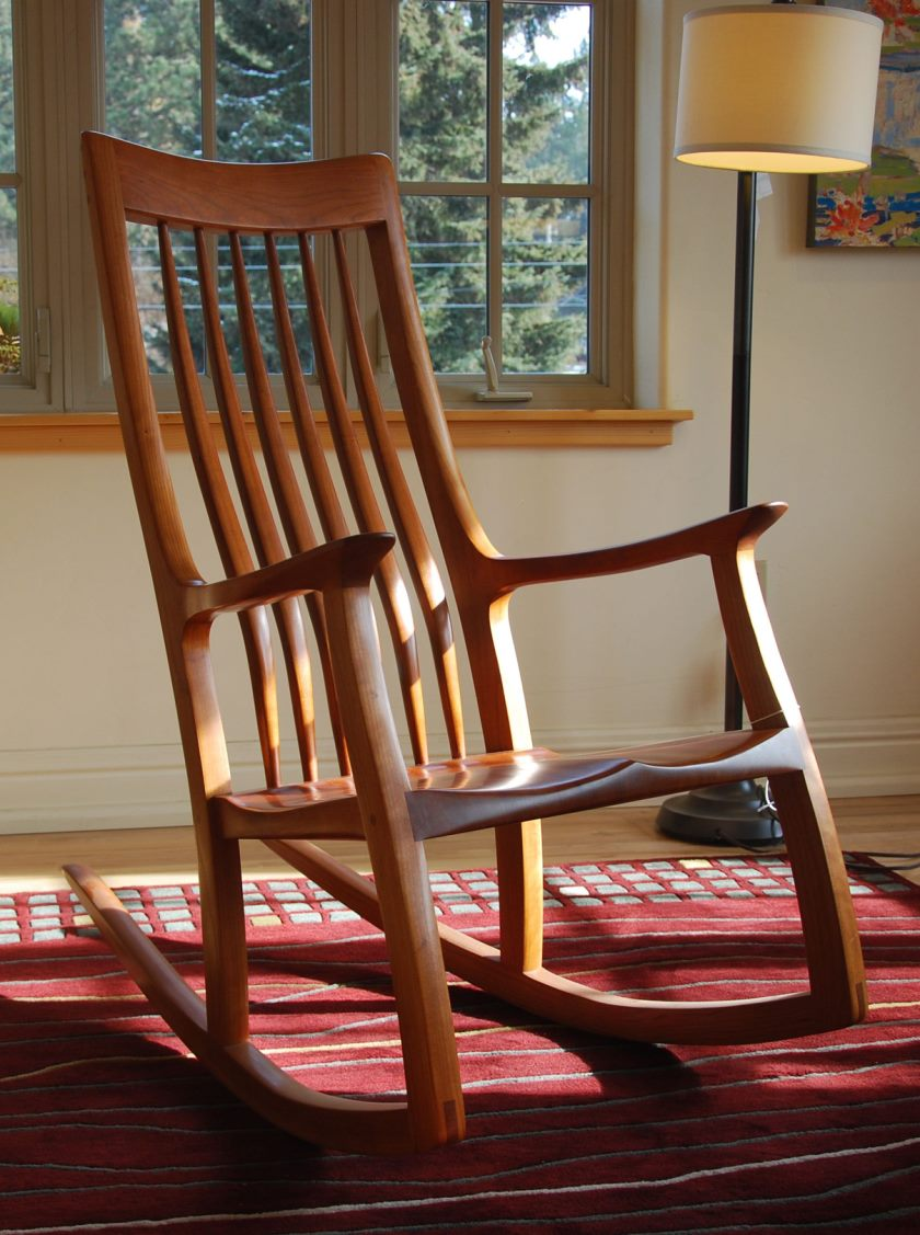 cherry-rocking-chair