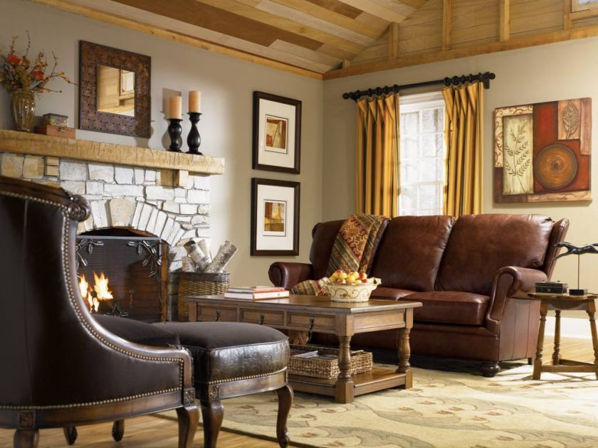 living-rooms-peachy-grey-country-style-living-room-design-with-brown-leather-three-seat-sofa-and-retro-two-level-coffee-table-also-traditional-fireplace-stunning-country-inspired-living-room-de