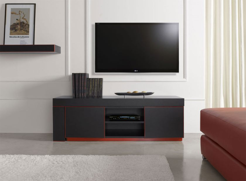 simple-stylish-modern-buffet-in-dark-accentuate-including-open-shelves-and-cabinets-without-handle-teamed-with-wall-installation-tv-unit-ideas-modern-tv-stand-cabinet-furniture-interior-entertain-you
