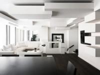 Черно белый интерьер — фото идеи оформления дизайна в черно-белых тонах