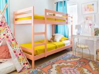 Современные интерьеры детских комнат с двухъярусной кроватью (80+ фото)