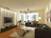 Комбинирование обоев в гостинной (120 фото)