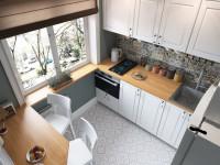 Как красиво оформить окно на кухне без штор в современном стиле