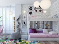 Идеи дизайна детской комнаты для двоих девочек разного возраста